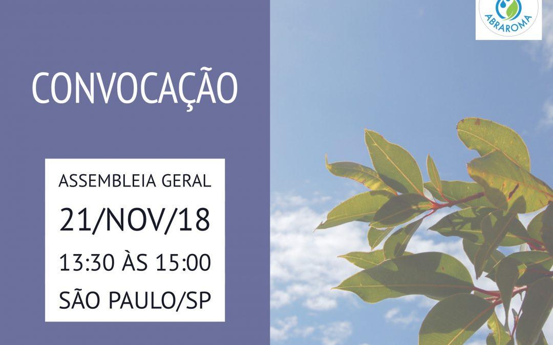 Convocação Assembleia Geral – 21/nov/18