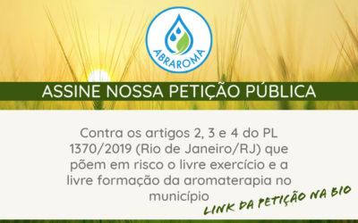Petição Pública contra artigos 2,3 e 4 do PL 1370/2019 Rio
